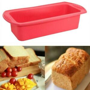 Silicone Non Stick Cake Baking Mold Toast Bread Candy Bakeware Pan Mould R6K2