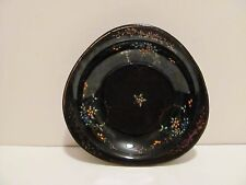 VINTAGE BLACK HANDPAINTED BOWL ----MADE IN JAPAN