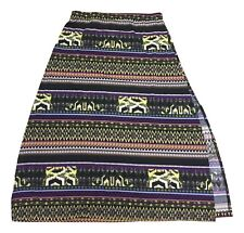 Jon and Anna Size Large Black Purple Multi Color Print Long Maxi Skirt FREE SHIP