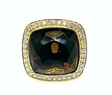 Large Brown Oval Citrine 13.00ct.& Diamonds 2.00ct.Y. Gold 18k. UK Ring Size P
