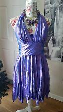 Le Cirque Spanish Style Designer Ladies Purple Party Asymmetric Prom Dress 10