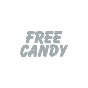 Free Candy - Vinyl Decal Sticker - Multiple Color & Sizes - ebn1823