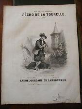 Partition Sheet Music 19 ème Siècle L'écho de la tourelle Eau Forte Larsonneur