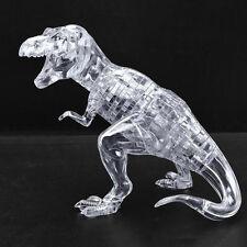 3D Crystal Puzzle Jigsaw Tyrannosaurus Rex T-Rex Dino Dinosaur Clear White 50Pcs