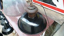 Lampe Industrielle Gamelle Suspension Métal Tôle émaillée 1940 Atelier Usine
