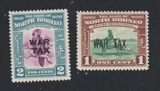 NORTH BORNEO MR1-2 1941 War Tax mint