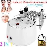 Pro 3in1 Diamond Microdermabrasion Dermabrasion Skin Peeling Acne Remove Machine