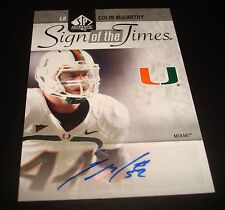 Colin McCarthy Miami Titans 2011 SP Authentic Sign Times Certified Autograph JG