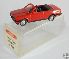 MICRO WIKING HO 1/87 BMW 320 I CABRIOLET ROUGE in box
