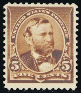 223, Mint VF NH GEM 5¢ Well Centered! With PFC Certificate - Stuart Katz