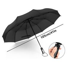 "Luxury Wide Umbrella 41"" Windproof Water Repellent Automatic Anti-Slip Handle"