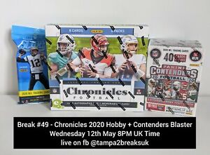INDIANAPOLIS COLTS - 2020 Panini Chronicles NFL Hobby Box Break + Contenders