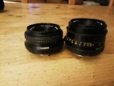 Vintage Pair MINOLTA MD ROKKOR LENS IN FAIR CONDITION FOR AGE