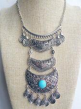 Plata Tibetana Estilo Vintage Bohemio Gypsy indio Borla Collar mexicano
