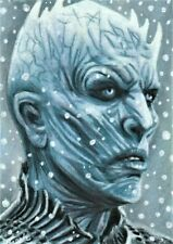 ACEO 1/1 Original Game of Thrones THE NIGHT KING Sketchcard Portrait COA Signed