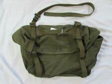 Vtg 40s M-1945 Named ID'd Canvas Musette Bag Green Pack 1949 Date M45 Field Butt