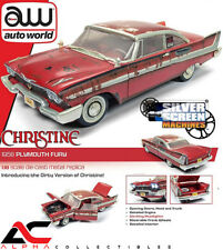 AUTOWORLD AWSS119 1:18 1958 PLYMOUTH FURY CHRISTINE DIRTY VERSION W/ LIGHTS