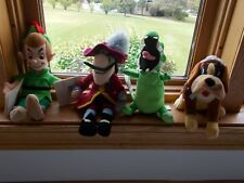 Disney Store Peter Pan Mini Bean Bags Crock, Captain Hook, Nana, Peter Pan NEW!!