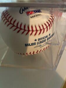 Brett Gardner autographed baseball in case