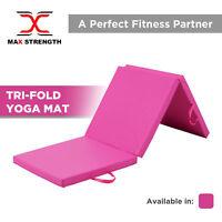 Gymnastics Mats Crash Floor Folding 5cm Thick 6ft Tri Panel Tumbling Yoga Gym