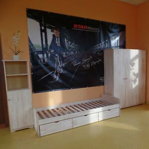 Kinderzimmer Jugendzimmer Komplett  Jugendbett Schrank Regal MASSIVHOLZ