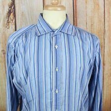 Etro Milano Men's Size 43 XL Blue Striped L/S Button Down Dress Shirt