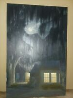 SAVANNAH Large Full MOON ORIGINAL PAINTING