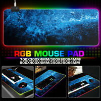 14 RGB Light LED Gaming Mouse Pad Large Desk Mat Extended Size Anti-slip Rubber