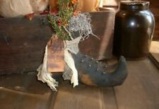Primitive handmade Halloween Witches Boots