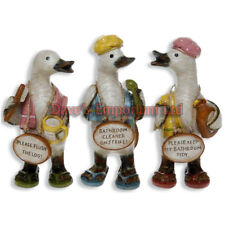 Complete Set of Davids Bathroom Message Ducks Small - Davids - Toilet Ornaments