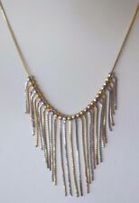 10K Solid Multi-Colored Gold Italian Fringe Necklace ~ 16 inch ~ 6.2 grams