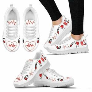 Women Funky Nurse Shoes Sneakers Sports Running Shoes Lightweight Breathable