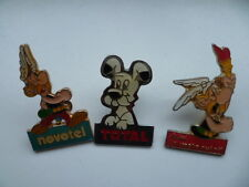 Lot de 3 PIN'S Astérix / idéfix (Vache qui rit / Total / Novotel) - 1991
