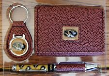Missouri Football NCCA Brown Tri-Fold Wallet keyring Pen Gift Set Tiger