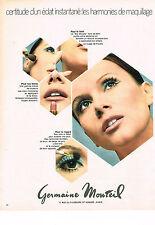 PUBLICITE ADVERTISING 014   1970   GERMAINE MONTEIL   cosmétiques