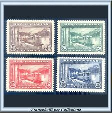 1932 San Marino Ferrovie Serie completa n. 164/167 Nuovi Integri **