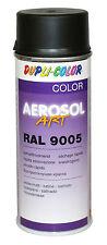 3x Aerosol Artículo RAL 9005 NEGRO PROFUNDO MATE SEDA barnizar laca bote Spray