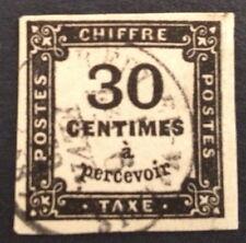 timbre TAXE, n°6, 30c noir , Obl, cote 160e