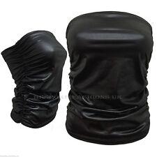 A04 Women Ladies PVC Ruched Bandeau Boob Tube Vest Crop Bra Top Sizes UK 8-14