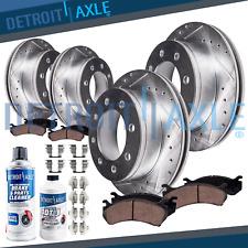 Front Rear DRILLED Brake Rotors Ceramic Pads for 2009 - 2017 Dodge Ram 2500 3500