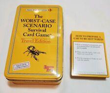 The Worst Case Scenario Survival Card Game Travel Edition 2003 Tin Case