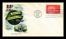 DR JIM STAMPS US 25C AIR MAIL HAND COLORED ARTMASTER FIRST DAY COVER C44