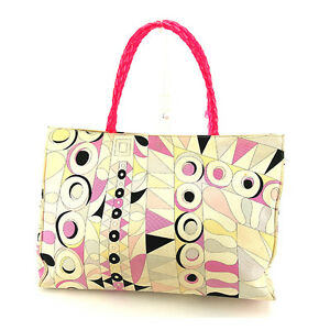 Emilio Pucci Tote bag Multicolor Pink Woman Authentic Used C2166