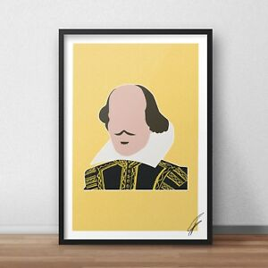 William Shakespeare INSPIRED WALL ART Print / Poster A4 A3 romeo and juliet