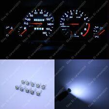10x White T5 74 W1.2W Instrument Speed Gauge Dashboard LED Light Bulb For Honda