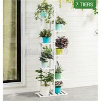 Wooden Plant Flower Pot Stand Shelf Rack Bookshelf Garden Indoor Outdoor Pati