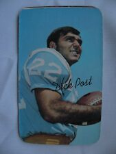 """1970 Topps large cards Dick Post card #05  (3 1/4"""" X 5 1/4"""") football"""
