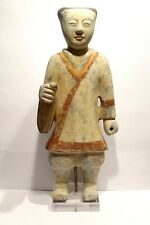 GARDE CHINOIS DYNASTIE HAN - LARGE ANCIENT CHINESE HAN DYNASTY TERRACOTTA GUARD