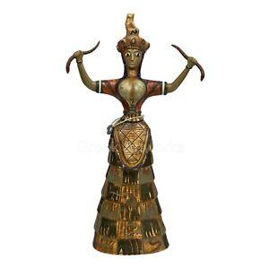 Snake Goddess of Fertility & Sexuality Figurine Minoan Knossos Cnossos Sculpture