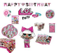 LOL SURPRISE DOLLS BIRTHDAY PARTY SUPPLIES TABLEWARE AND DECORATIONS